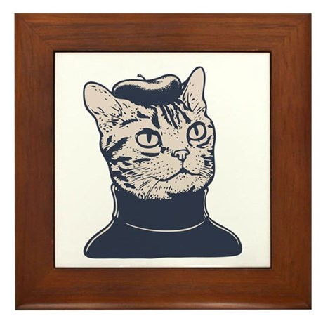 Sophisti-Cat Framed Tile