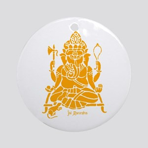 Jai Ganesh (Orange) Round Ornament