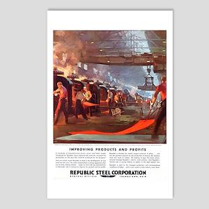 Vintage Republic Steel Wo Postcards (Package of 8)