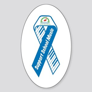 """Support School Music"" Ribbon Oval Sticker"