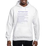 Top ten reasons I sprint Hooded Sweatshirt