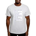 Top ten reasons distance swim Ash Grey T-Shirt
