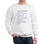Top ten reasons distance swim Sweatshirt