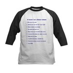 Top ten reasons distance swim Kids Baseball Jersey