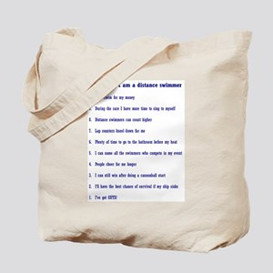 Top ten reasons distance swim Tote Bag
