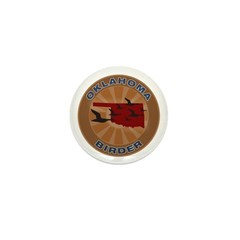 Oklahoma Birder Mini Button