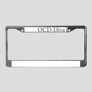 OCD Diva License Plate Frame