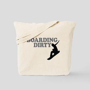 Snowboarding Dirty Tote Bag