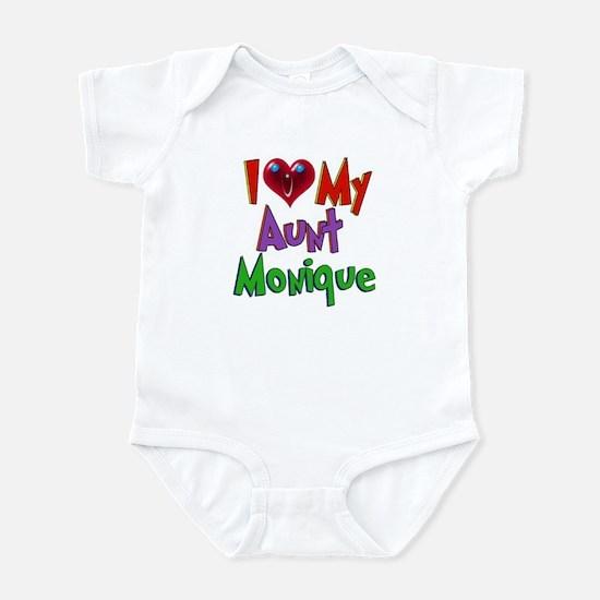 I LOVE MY AUNT MONIQUE Infant Bodysuit