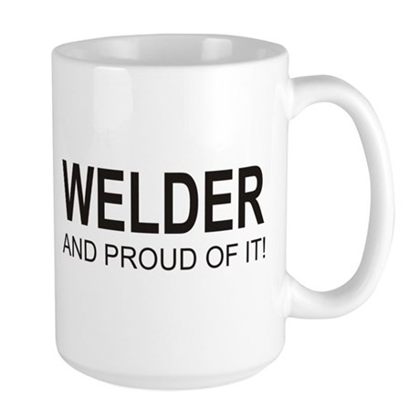 The Proud Welder Large Mug (left side)