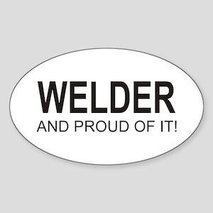 The Proud Welder Oval Sticker