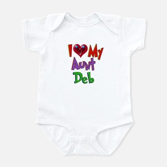 I LOVE MY AUNT DEB Infant Bodysuit