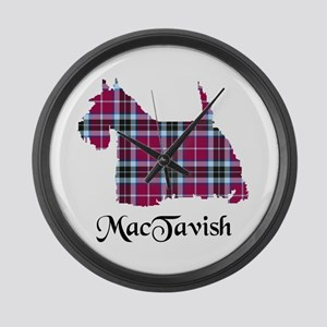 Terrier-MacTavish Large Wall Clock