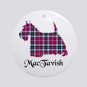 Terrier-MacTavish Round Ornament