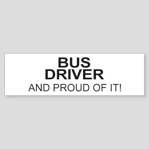 Proud Bus Driver Bumper Sticker