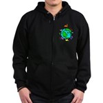Animal Planet Rescue Zip Hoodie (dark)