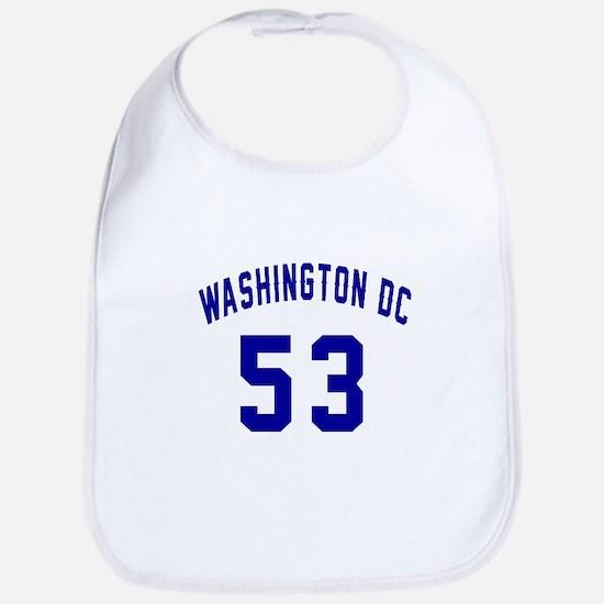 Washington Dc 53 Cotton Baby Bib