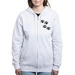 Pet Paw Prints Women's Zip Hoodie