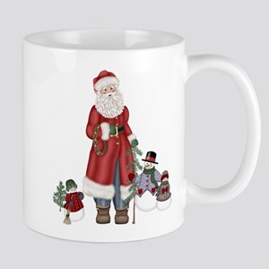 SnowFamily and Santa Mug