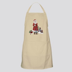 SnowFamily and Santa BBQ Apron