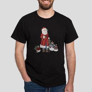 SnowFamily and Santa Dark T-Shirt