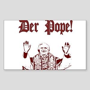 Der Pope! Rectangle Sticker