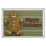 Happy Holidays Gingerbread Banner