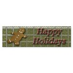 Happy Holidays Gingerbread Bumper Sticker (50 pk)