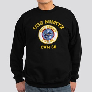 USS Nimitz CVN 68 Sweatshirt (dark)