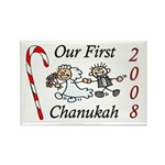 Our 1st Chanukah 08 Rectangle Magnet (100 pack)