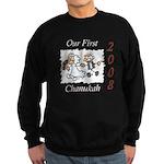 Our 1st Chanukah 08 Sweatshirt (dark)