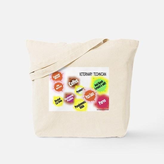 Veterinary Technician Splat Tote Bag