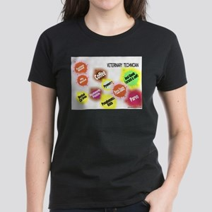 Veterinary Technician Splat Women's Dark T-Shirt