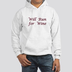 Will Run for Wine Hooded Sweatshirt