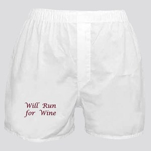 Will Run for Wine Boxer Shorts