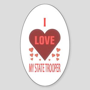 My State Trooper Oval Sticker