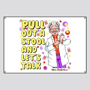 Pull out a stool Banner