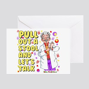 Pull out a stool Greeting Card