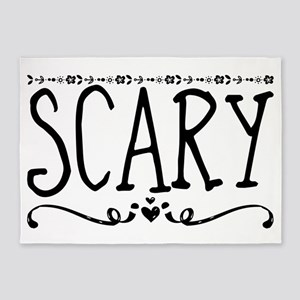 Scary 5'x7'Area Rug