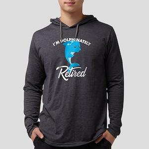 Dolphin Lover Retirement Anima Long Sleeve T-Shirt