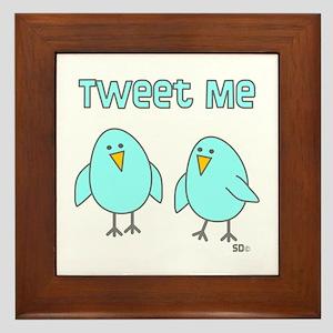 Tweet Me Framed Tile