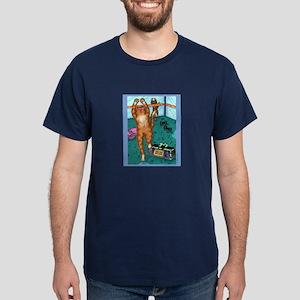 AEROBICS CAT Dark T-Shirt
