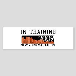 New York Marathon - In Training Bumper Sticker