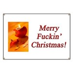 Merry Fuckin' Christmas Banner