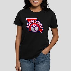 St. Louis Baseball Women's Dark T-Shirt