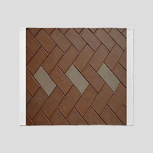 Brown brick Throw Blanket