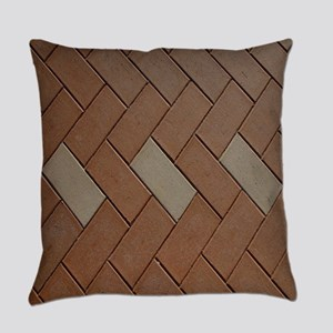Brown brick Everyday Pillow