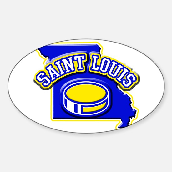 St. Louis Hockey Oval Decal