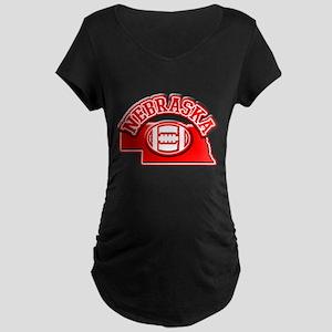 Nebraska Football Maternity Dark T-Shirt