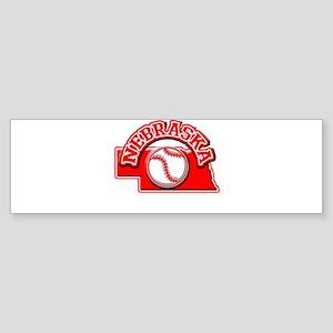 Nebraska Baseball Bumper Sticker